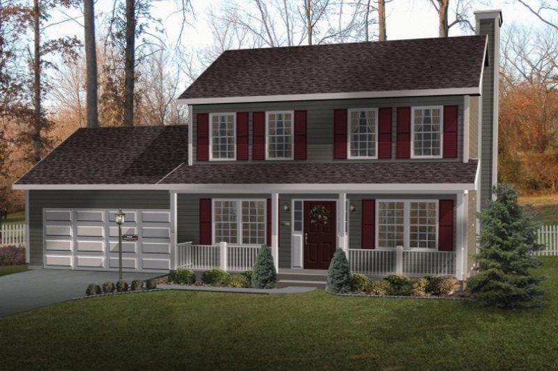 Farmhouse Style House Plan - 3 Beds 2.5 Baths 1680 Sq/Ft Plan #22-202