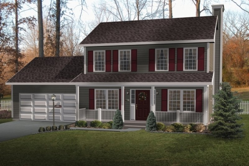 Home Plan - Farmhouse Exterior - Front Elevation Plan #22-202