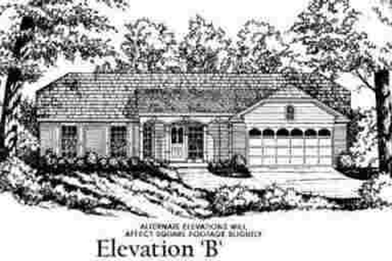 Ranch Exterior - Other Elevation Plan #40-252 - Houseplans.com