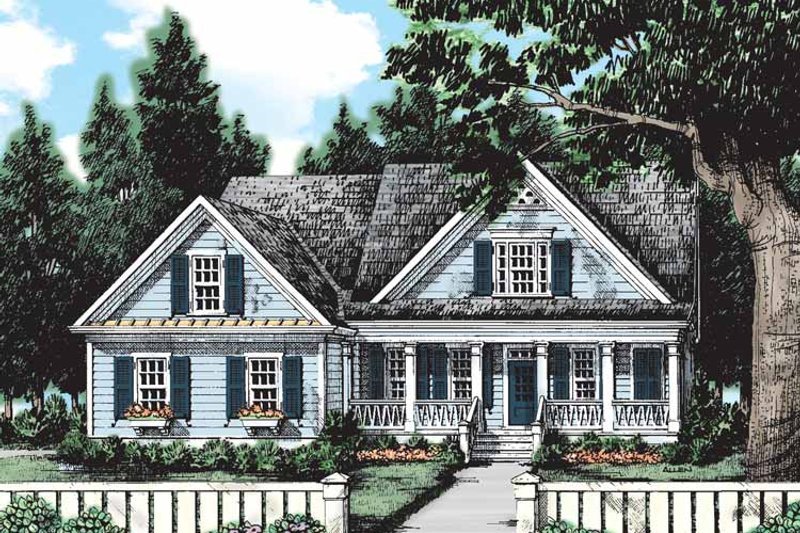 Country Exterior - Front Elevation Plan #927-127 - Houseplans.com