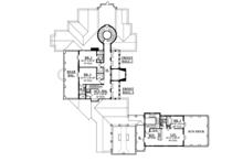Mediterranean Floor Plan - Upper Floor Plan Plan #1058-25
