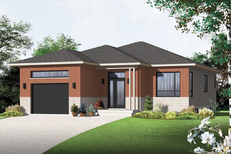 House Plan Design - Contemporary Exterior - Front Elevation Plan #23-2576