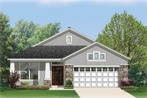Architectural House Design - Craftsman Exterior - Front Elevation Plan #1058-67