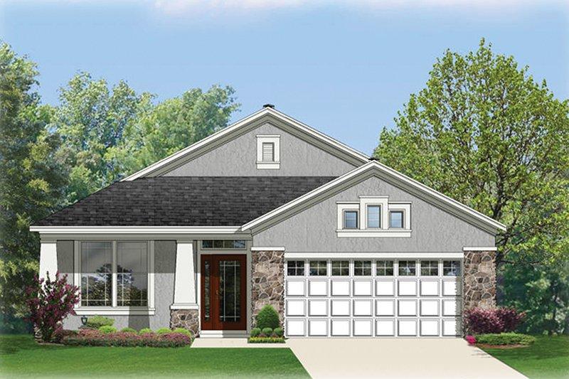 Architectural House Design - Craftsman Exterior - Front Elevation Plan #1058-67