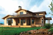 Craftsman Style House Plan - 4 Beds 3.5 Baths 3434 Sq/Ft Plan #1042-1 Exterior - Front Elevation