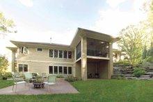 Architectural House Design - Prairie Exterior - Rear Elevation Plan #928-50