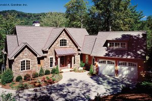 House Plan Design - European Exterior - Front Elevation Plan #929-899