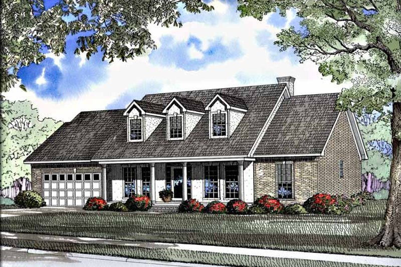 Dream House Plan - Classical Exterior - Front Elevation Plan #17-3185