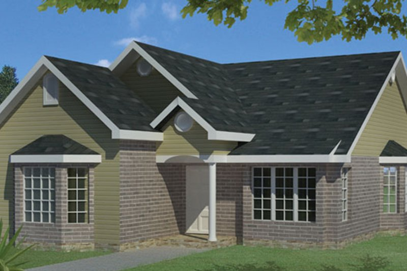 Ranch Exterior - Front Elevation Plan #1061-23 - Houseplans.com