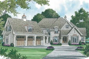 Home Plan - Country Exterior - Front Elevation Plan #453-461
