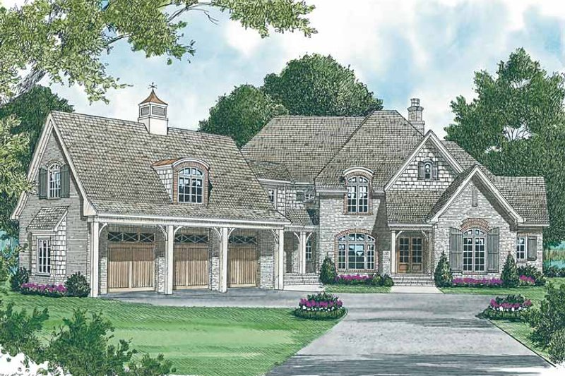 Architectural House Design - Country Exterior - Front Elevation Plan #453-461