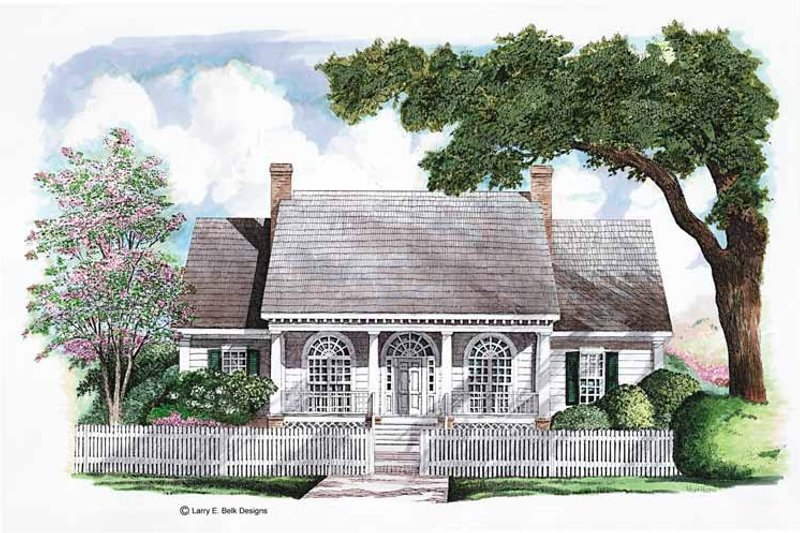 Classical Exterior - Front Elevation Plan #952-286