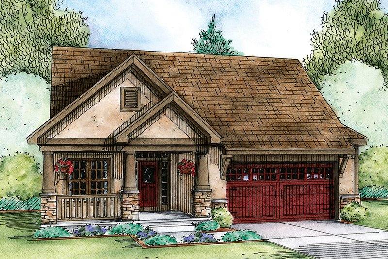 Ranch Exterior - Front Elevation Plan #20-2313