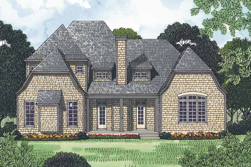 Country Exterior - Rear Elevation Plan #453-444 - Houseplans.com