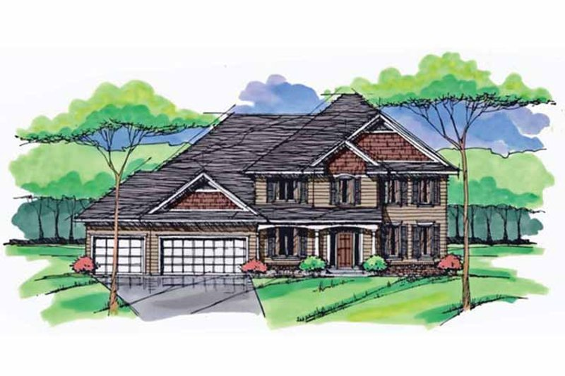 Traditional Exterior - Front Elevation Plan #51-1028 - Houseplans.com
