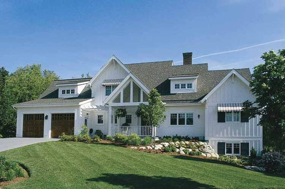Country Exterior - Front Elevation Plan #928-47