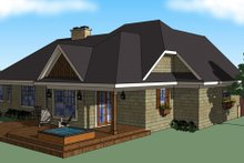 House Plan Design - Craftsman Exterior - Rear Elevation Plan #51-517