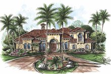 Home Plan - Mediterranean Exterior - Front Elevation Plan #1017-58