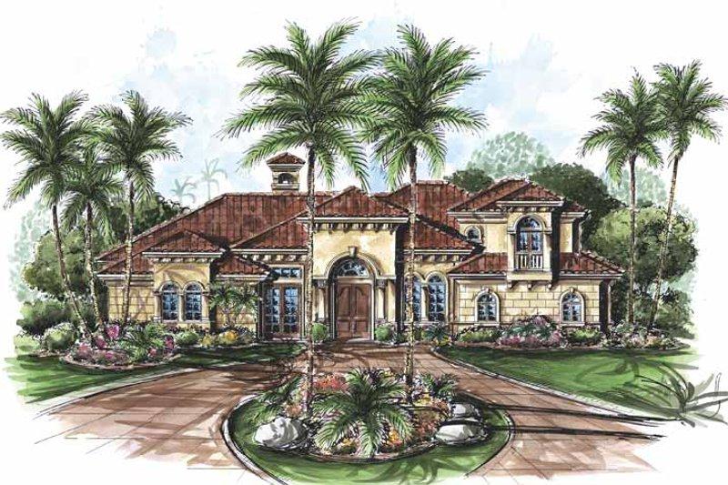 Dream House Plan - Mediterranean Exterior - Front Elevation Plan #1017-58