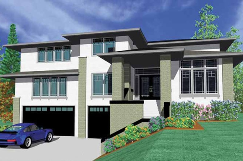 Prairie Exterior - Front Elevation Plan #509-420 - Houseplans.com
