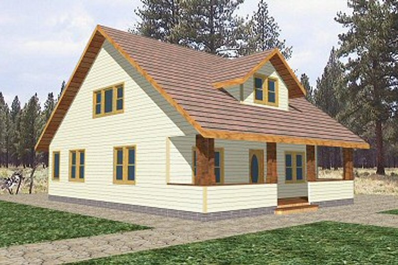 Cottage Style House Plan - 3 Beds 3 Baths 1934 Sq/Ft Plan #117-212 Exterior - Front Elevation