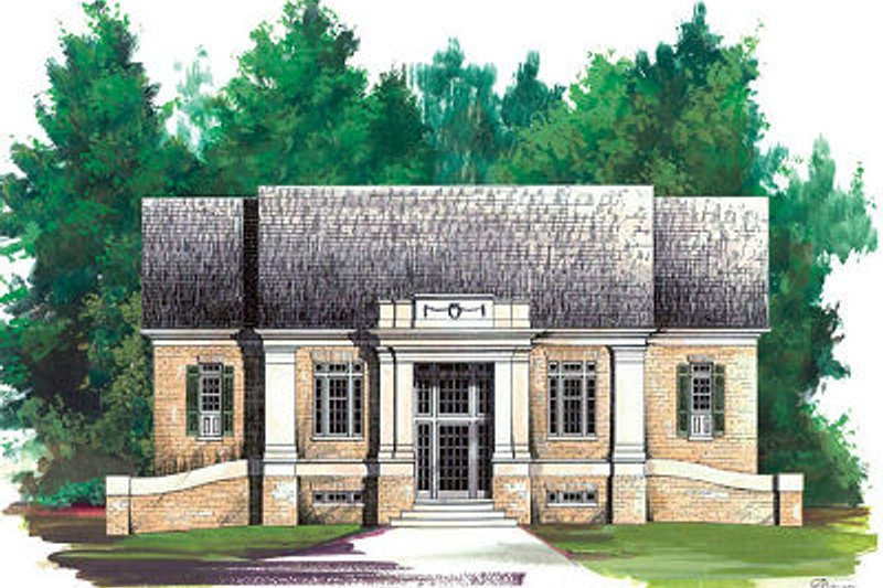 Architectural House Design - Colonial Exterior - Front Elevation Plan #119-265