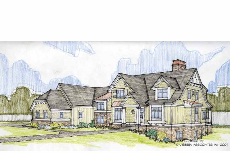 Craftsman Exterior - Front Elevation Plan #928-184 - Houseplans.com