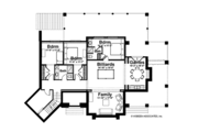 Adobe / Southwestern Style House Plan - 4 Beds 3.5 Baths 3412 Sq/Ft Plan #928-182 Floor Plan - Lower Floor Plan