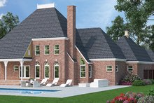 Dream House Plan - Country Exterior - Rear Elevation Plan #45-449