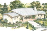 Contemporary Style House Plan - 2 Beds 2 Baths 1275 Sq/Ft Plan #140-157 Exterior - Front Elevation