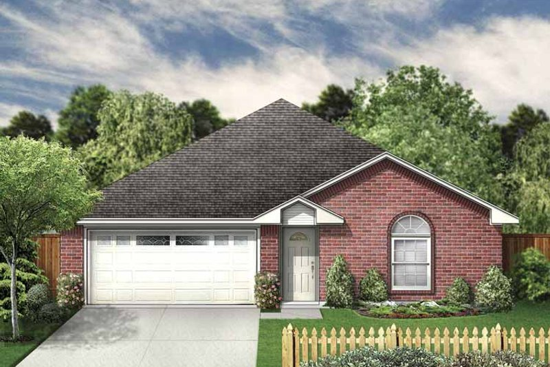 Traditional Exterior - Front Elevation Plan #84-745 - Houseplans.com