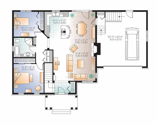 Traditional Floor Plan - Main Floor Plan Plan #23-2530