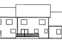 Country Exterior - Rear Elevation Plan #60-832