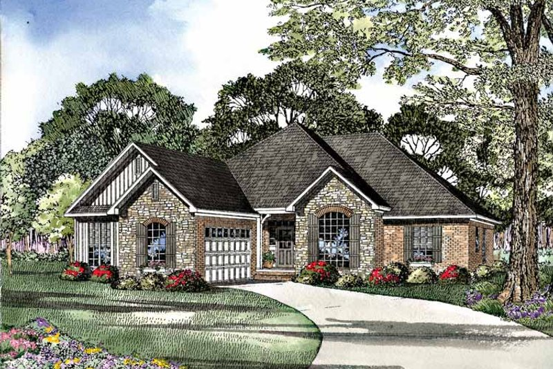 Country Exterior - Front Elevation Plan #17-2952