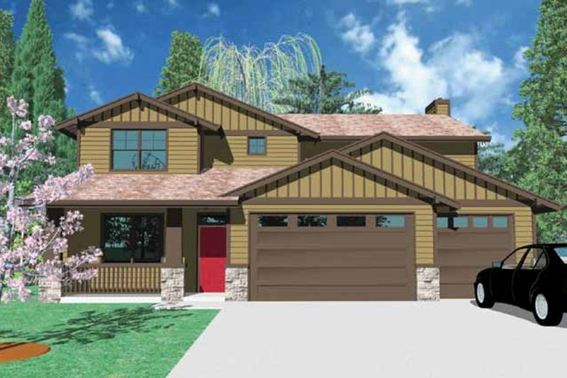 Traditional Exterior - Front Elevation Plan #509-344 - Houseplans.com