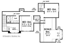 Craftsman Floor Plan - Upper Floor Plan Plan #929-1080