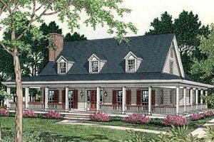 Dream House Plan - Country Exterior - Front Elevation Plan #406-150