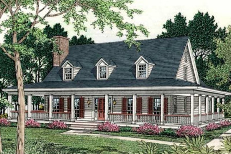 Home Plan - Country Exterior - Front Elevation Plan #406-150