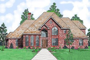 House Plan Design - European Exterior - Front Elevation Plan #52-181