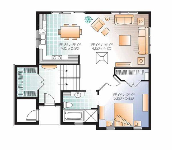 Traditional Floor Plan - Main Floor Plan Plan #23-2492
