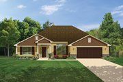 Craftsman Style House Plan - 4 Beds 3 Baths 2508 Sq/Ft Plan #1058-29 Exterior - Front Elevation