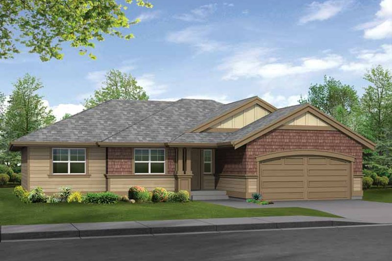 Dream House Plan - Craftsman Exterior - Front Elevation Plan #132-271