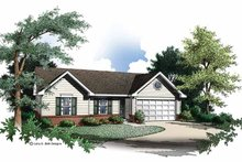 Ranch Exterior - Front Elevation Plan #952-191