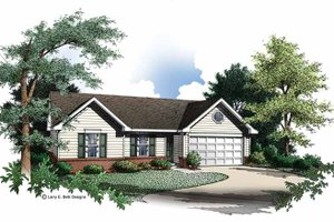 House Plan Design - Ranch Exterior - Front Elevation Plan #952-191