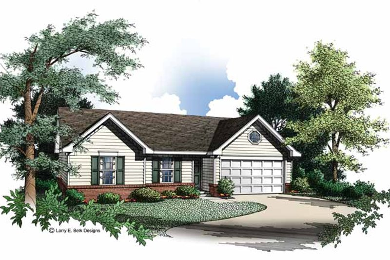 Dream House Plan - Ranch Exterior - Front Elevation Plan #952-191