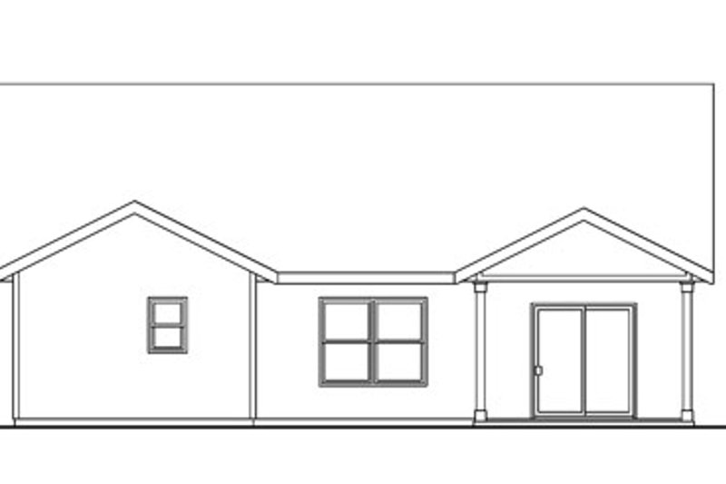Craftsman Exterior - Rear Elevation Plan #124-747 - Houseplans.com