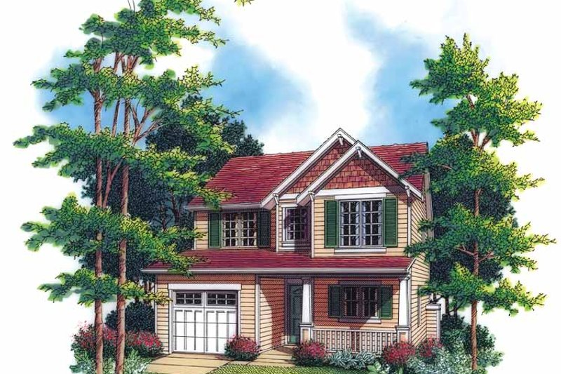 Craftsman Exterior - Front Elevation Plan #48-794