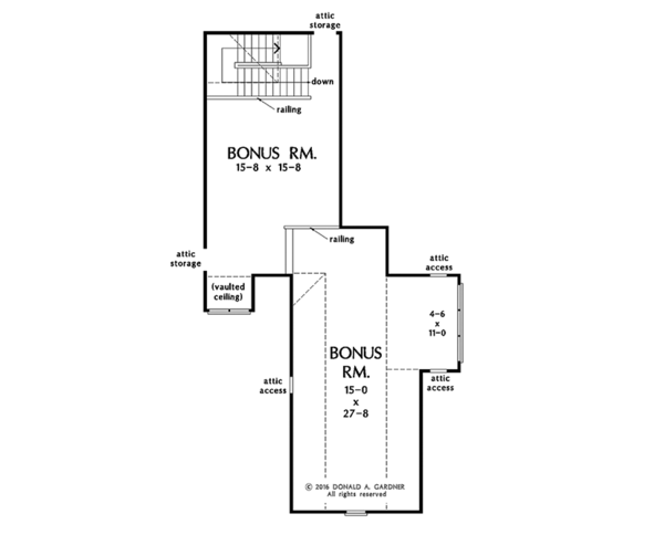 European Floor Plan - Other Floor Plan #929-1009