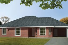 Ranch Exterior - Front Elevation Plan #1061-29