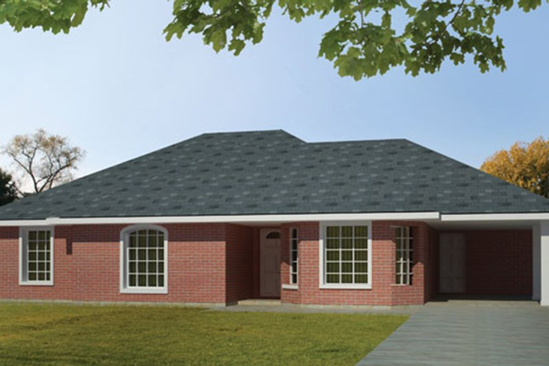 Ranch Exterior - Front Elevation Plan #1061-29 - Houseplans.com